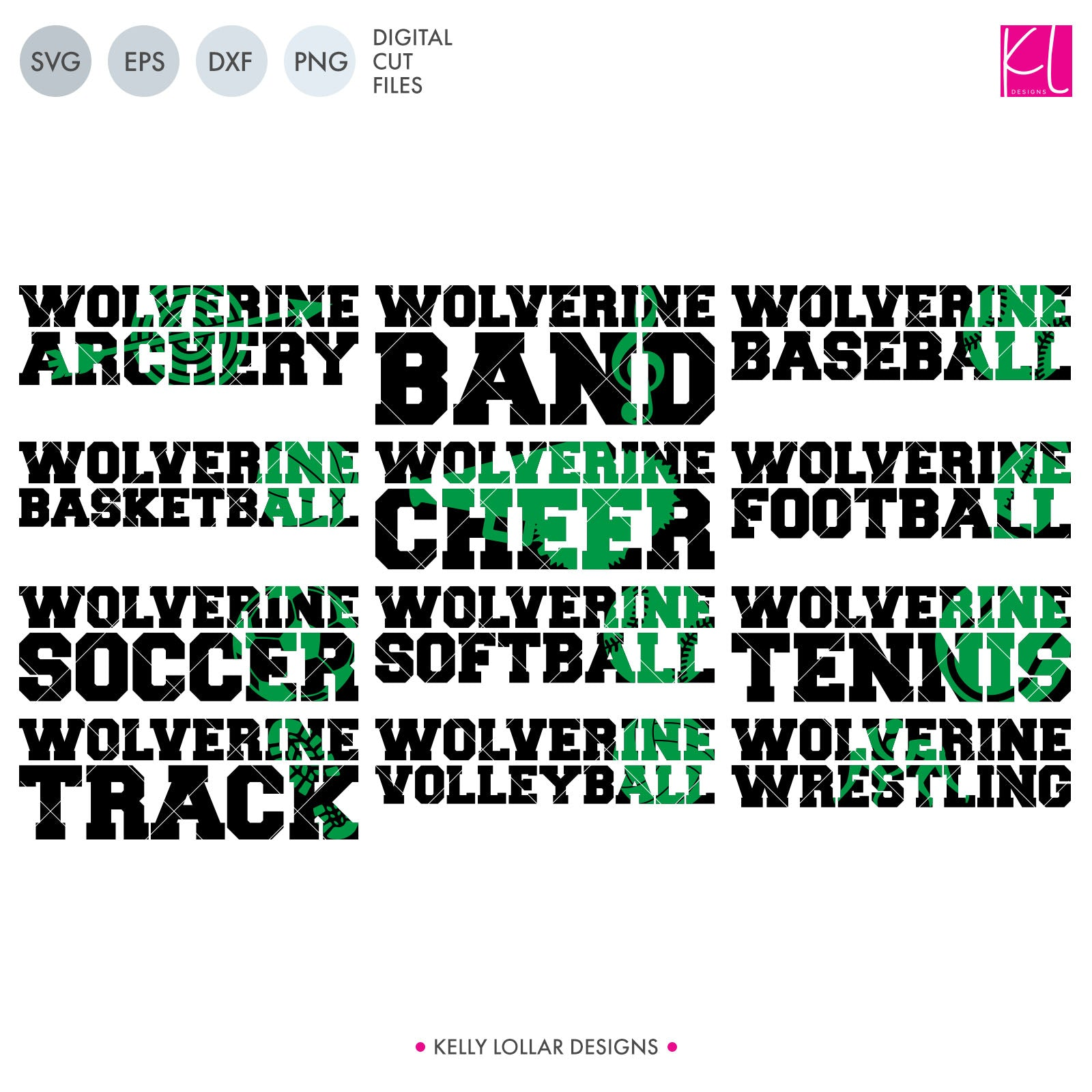 Wolverines Sports Pack | SVG DXF EPS PNG Cut Files