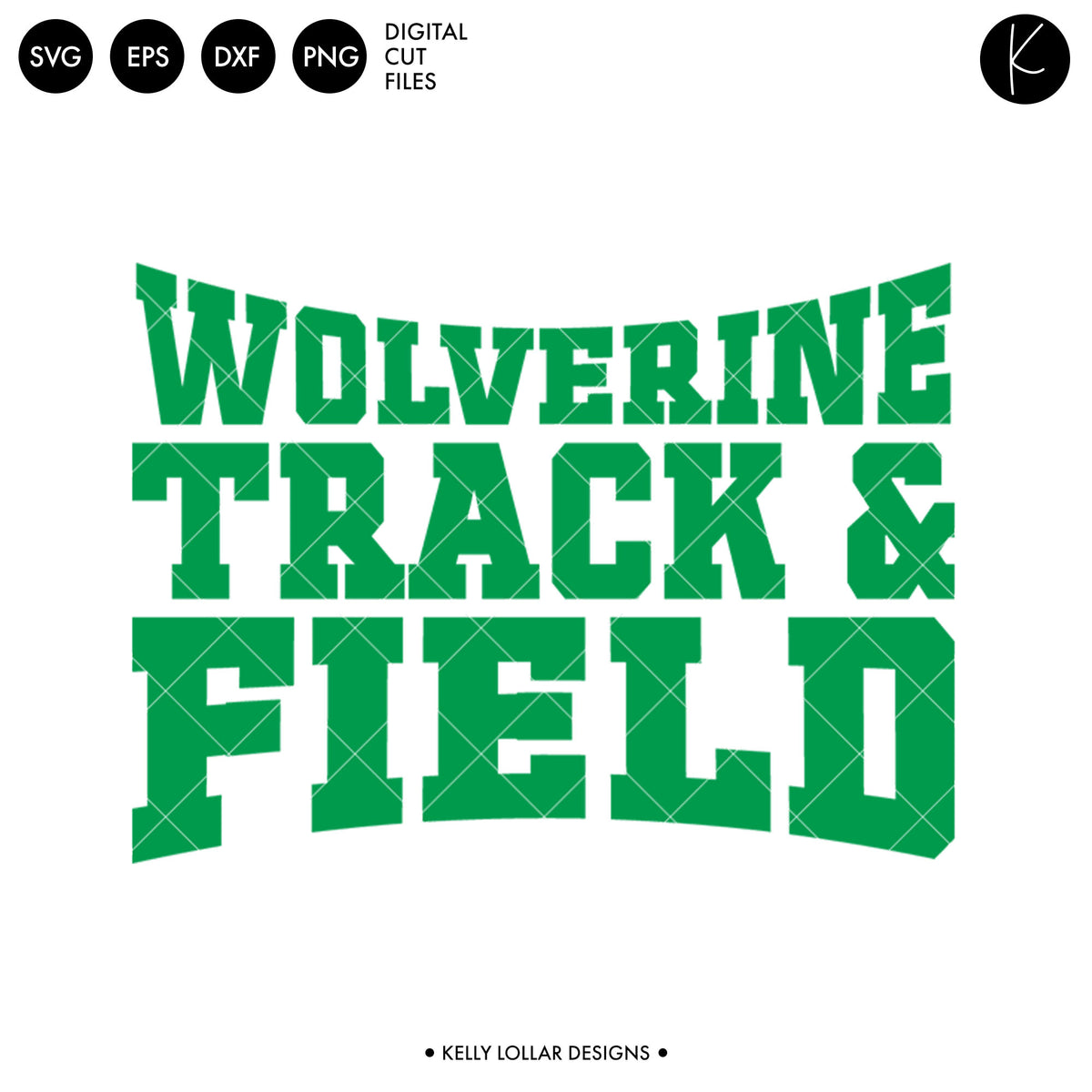 Wolverines Track & Field Bundle | SVG DXF EPS PNG Cut Files