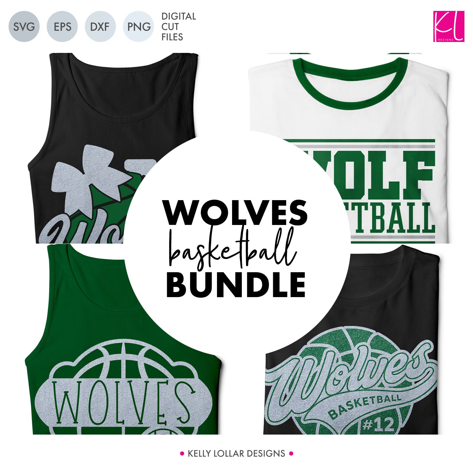 Wolves Basketball Bundle | SVG DXF EPS PNG Cut Files