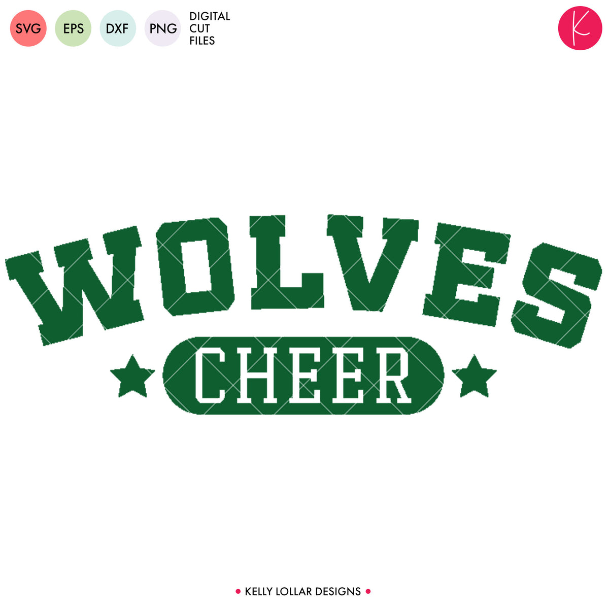 Wolves Cheer Bundle | SVG DXF EPS PNG Cut Files