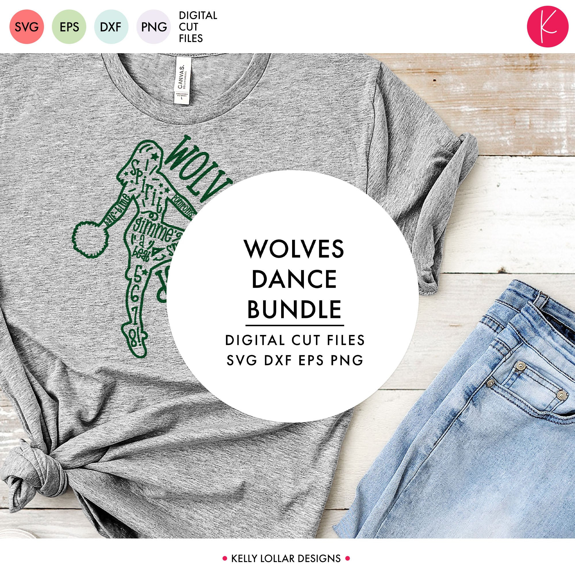 Wolves Dance Bundle | SVG DXF EPS PNG Cut Files