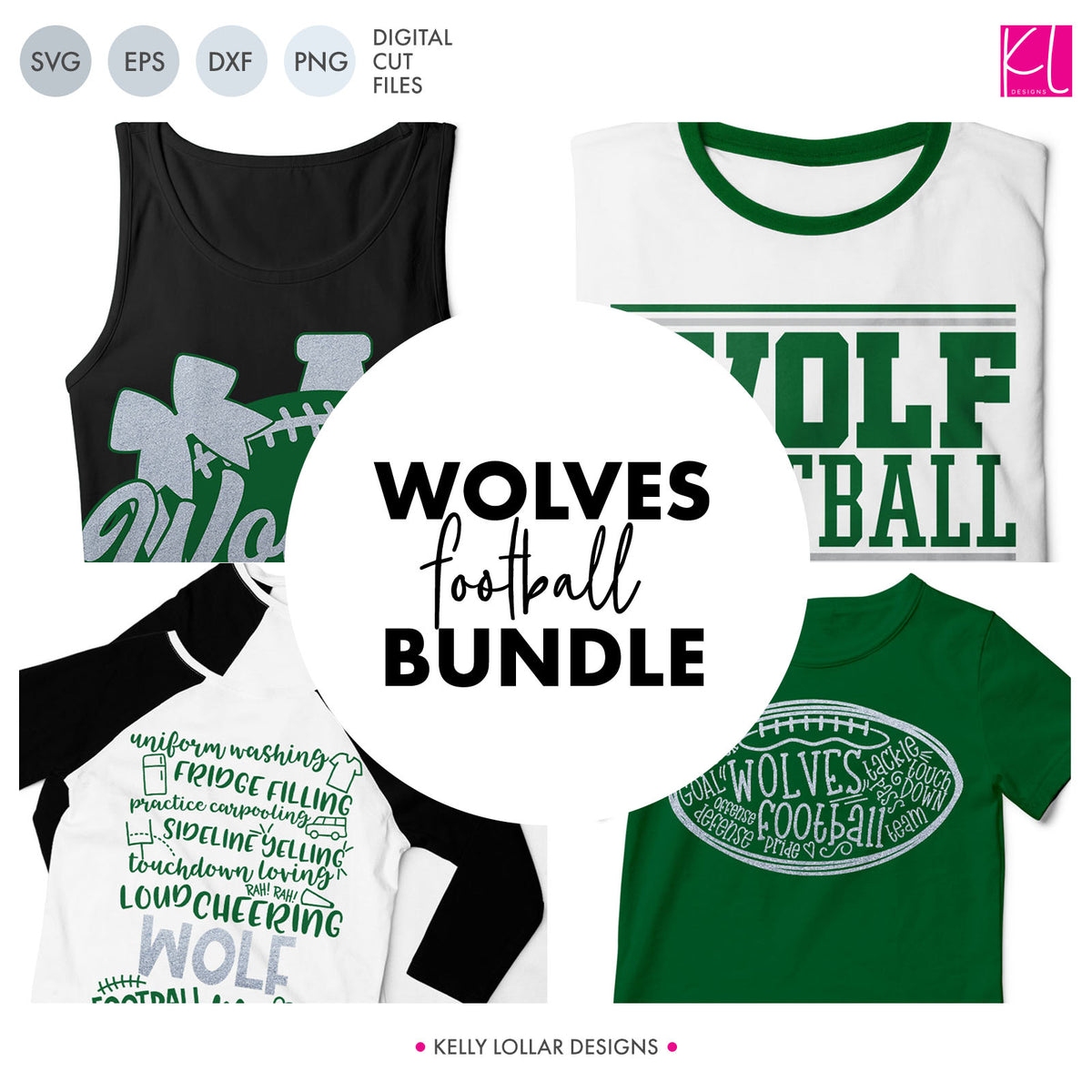 Wolves Football Bundle | SVG DXF EPS PNG Cut Files