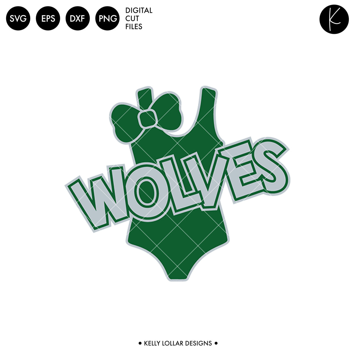 Wolves Swim Bundle | SVG DXF EPS PNG Cut Files
