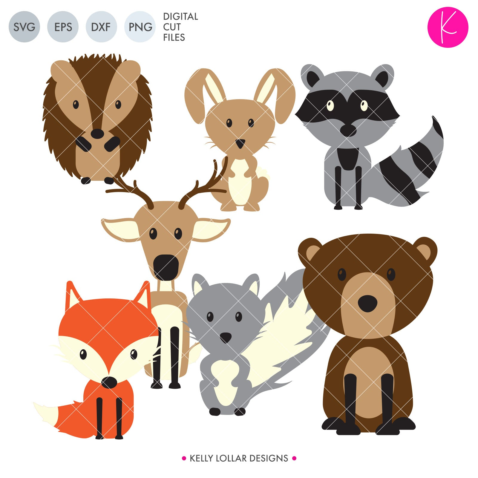 Woodland Animal Pack | SVG DXF EPS PNG Cut Files