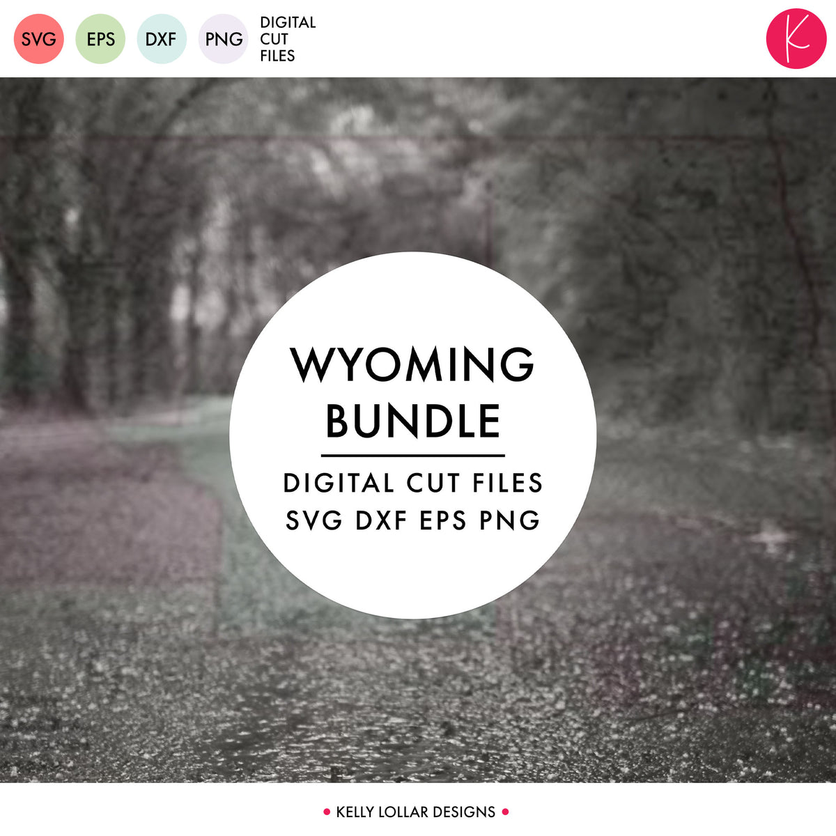 Wyoming State Bundle | SVG DXF EPS PNG Cut Files