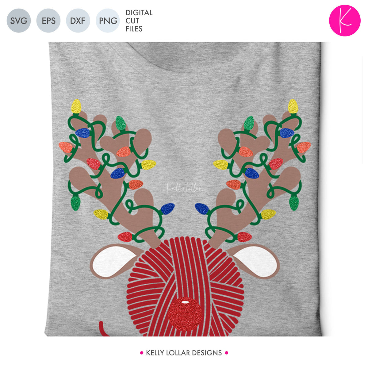 Crochet & Knitting Yarn Reindeer | SVG DXF EPS PNG Cut Files
