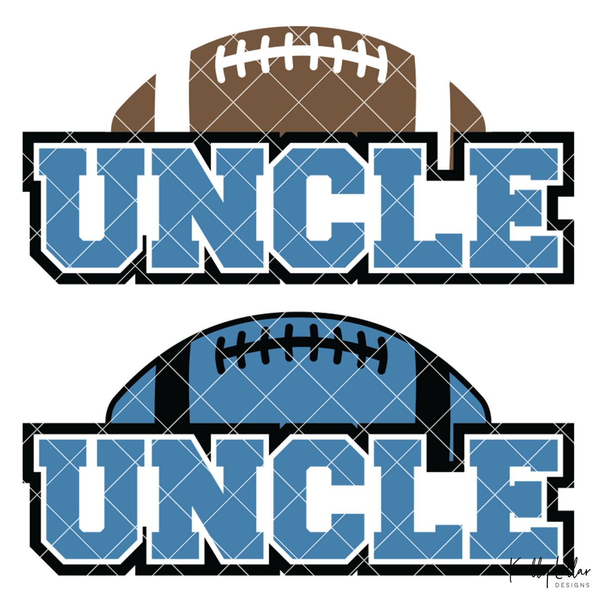 Football Uncle | 2 and 4 Colors Options Plus Bonus Football Helmet Monogram | SVG DXF PNG Cut Files
