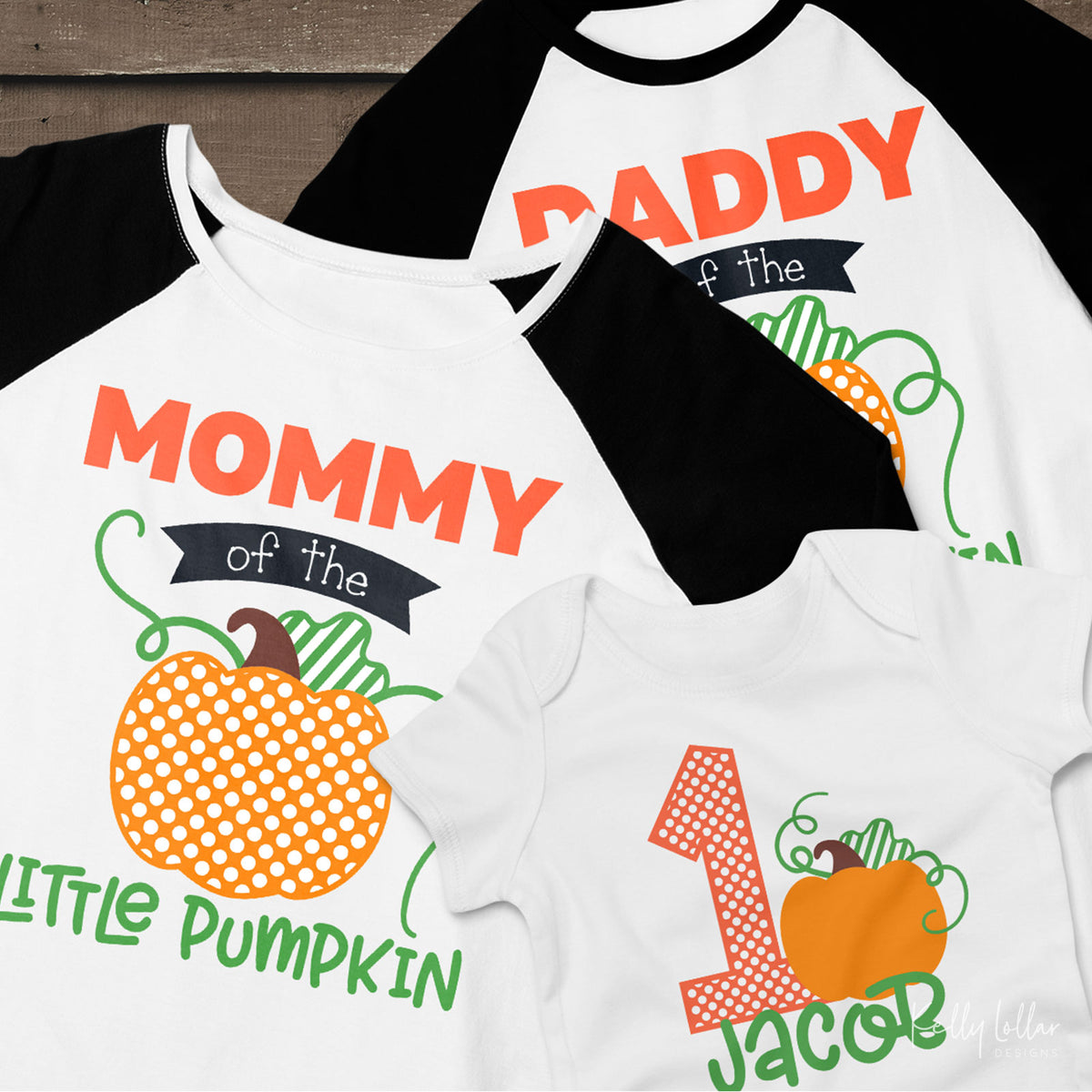 Little Pumpkin Birthday Set | Baby & Toddler Fall Birthday Sets with Matching Mommy and Daddy Shirt Designs  | SVG DXF PNG Cut Files