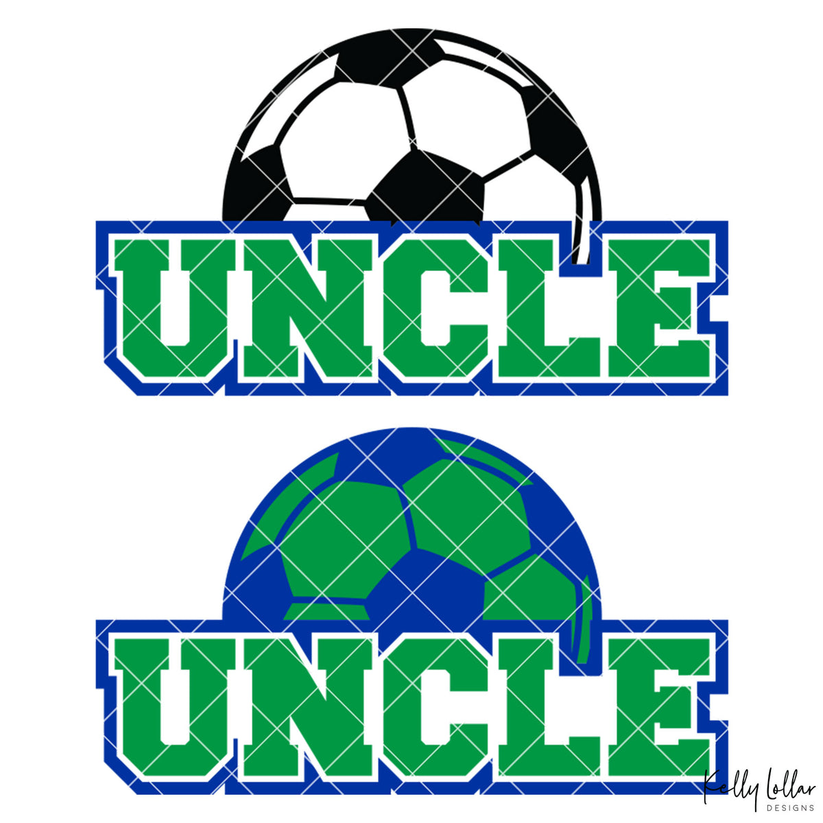 Soccer Uncle |  2 and 4 Colors Options Plus Bonus Soccer Ball Monogram | SVG DXF PNG Cut Files