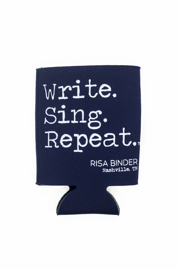 Write. Sing. Repeat. Koozie - Navy