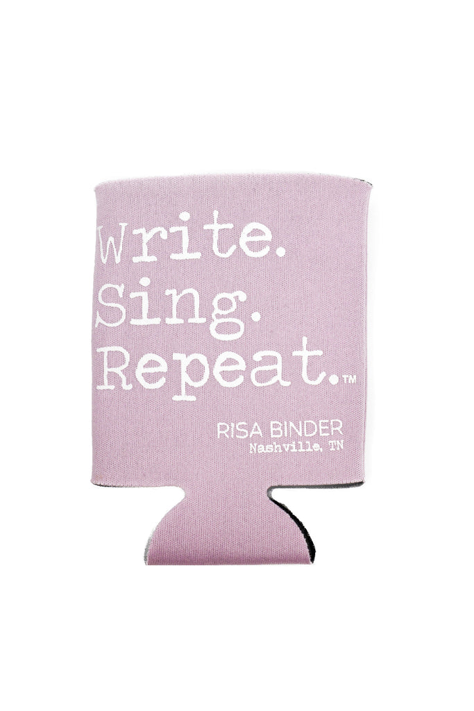 Write. Sing. Repeat. Koozie - Pink