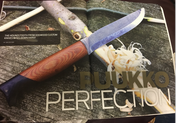 Dogwood Houndstooth Featured in Knives Illustrated