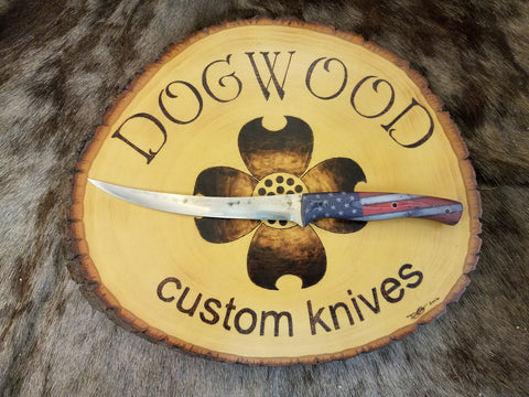 BBQ Boning Knife with American Flag Handle