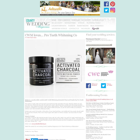 County Wedding Magazine - Activated Charcoal Teeth Whitening