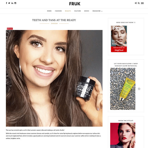 FRUK - Activated Charcoal Teeth Whitening