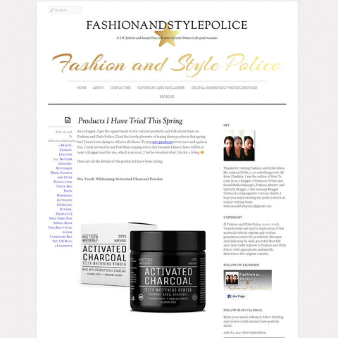 Fashion & Style Police - Activated Charcoal Teeth Whitening