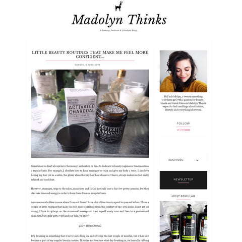 Madolyn Thinks - Activated Charcoal Teeth Whitening