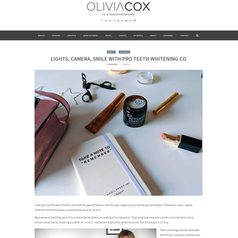 Olivia Cox - Activated Charcoal Teeth Whitening