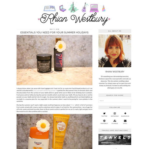 Rhian Westbury - Activated Charcoal Teeth Whitening