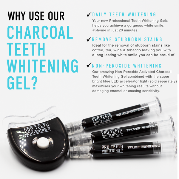 Activated Charcoal Teeth Whitening Kit Gel Refills