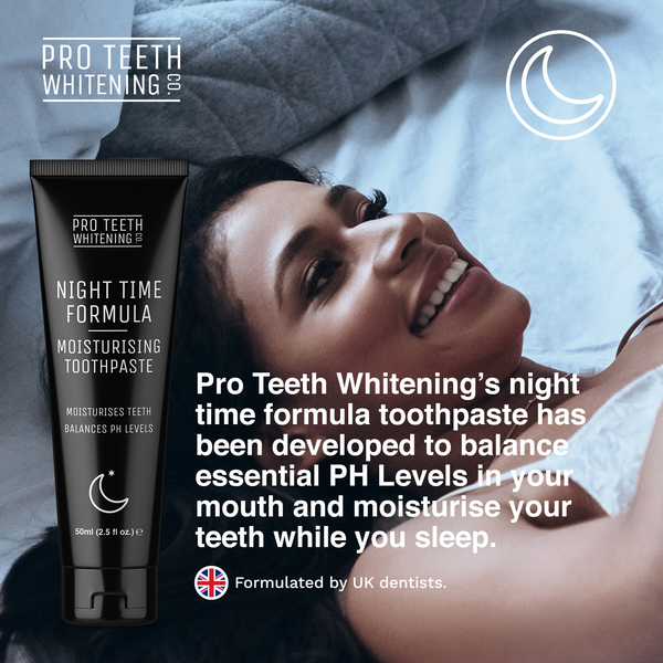 Pro Teeth Whitening Co - Activated Charcoal Day & Night Toothpaste (60 Days Supply) - Natural Teeth Whitening & Moisturising