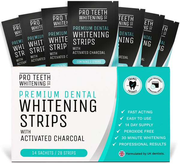 Teeth Whitening Strips with Activated Charcoal 30 Minute Teeth Whitening