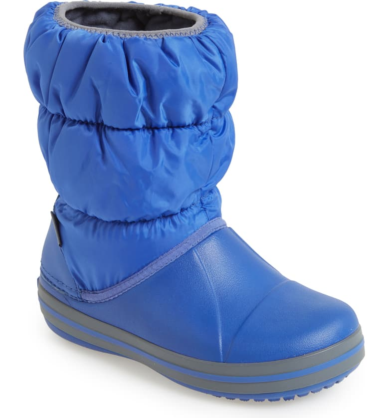 Blue Winter Puff Boots - MunchkinGear.com