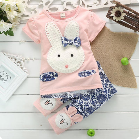 Rabbit T-Shirt and Pants Set