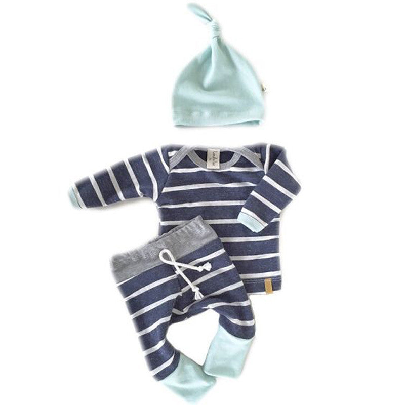 Navy Striped Set - MunchkinGear.com