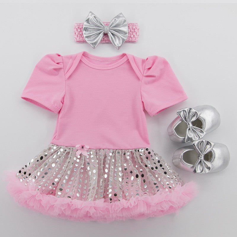 Pink With Sequin Tutu Set - MunchkinGear.com