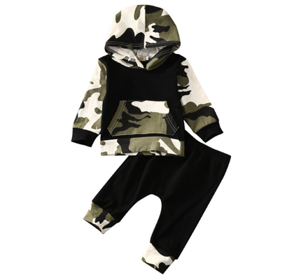Army Print Hoodie and Pants Set - MunchkinGear.com