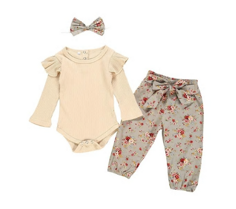 Neutral Tone Summer 3 Pc Set - MunchkinGear.com