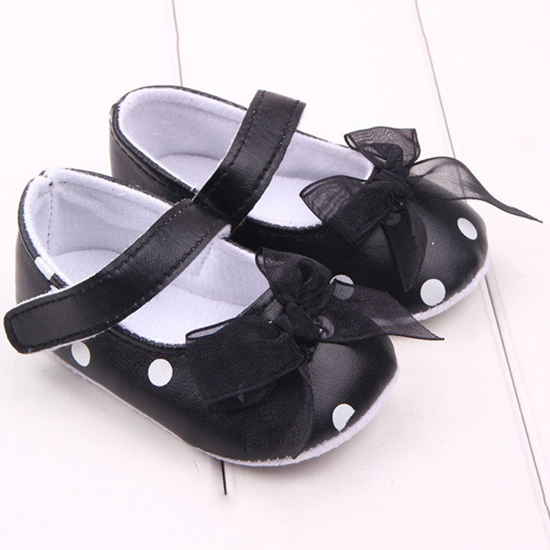 Black Polka Dot Anti-Slip Shoes - MunchkinGear.com