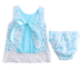 Blue Lace Dress 2 Pc Set