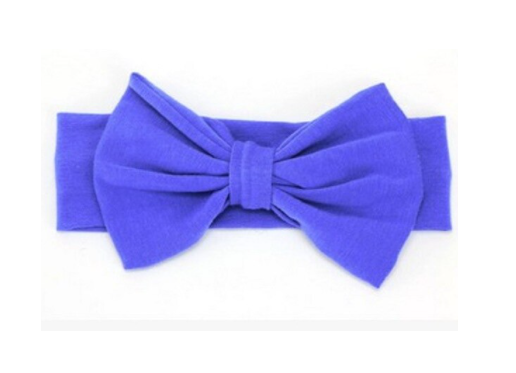 Solid Blue Bow Headband