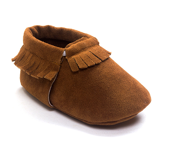 Matte Brown Shoes With Fringe - MunchkinGear.com