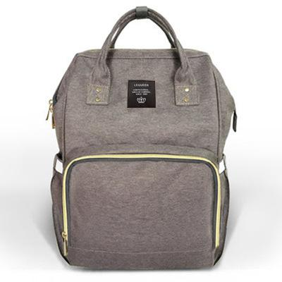 Dark Gray Fashionable Diaper Bag
