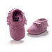 Matte Dark Pink Shoes With Fringe - MunchkinGear.com