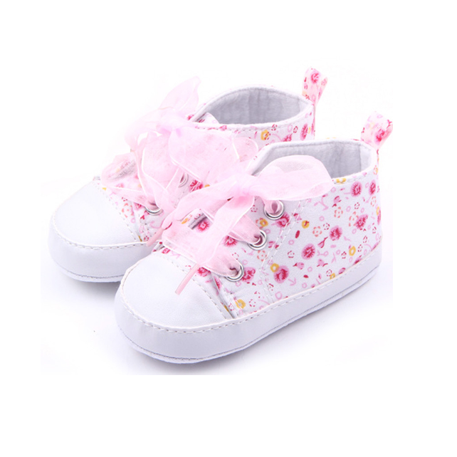 Pink Floral Sneakers - MunchkinGear.com