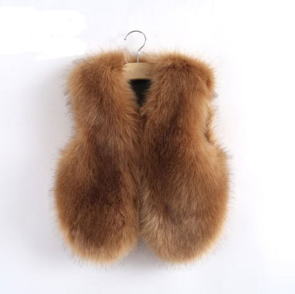 Brown Faux Fur Vest Thick & Warm - MunchkinGear.com