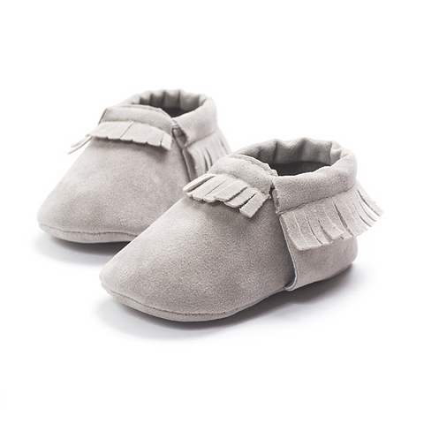 Matte Gray Shoes With Fringe - MunchkinGear.com