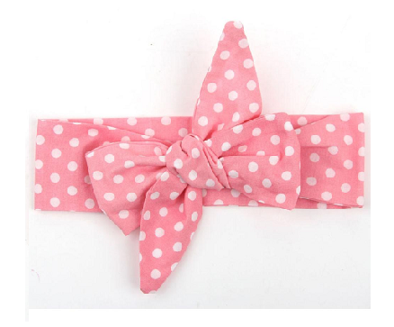 Blue or Pink Polka Dot Bowknot Headbands - MunchkinGear.com