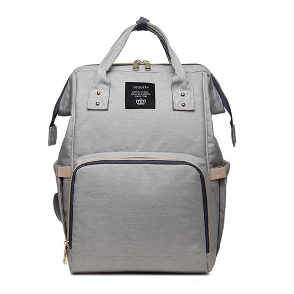 Light Gray Fashionable Diaper Bag - MunchkinGear.com