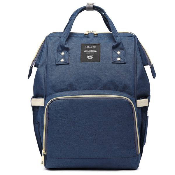 Navy Fashionable Diaper Bag - MunchkinGear.com