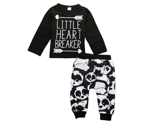 Little Heart Breaker 2 PC Set - MunchkinGear.com