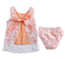 Peach Lace Dress 2 PC Set - MunchkinGear.com