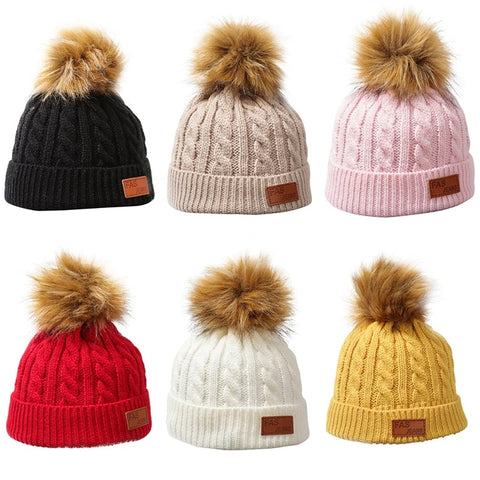 Removable Pompom Beanies