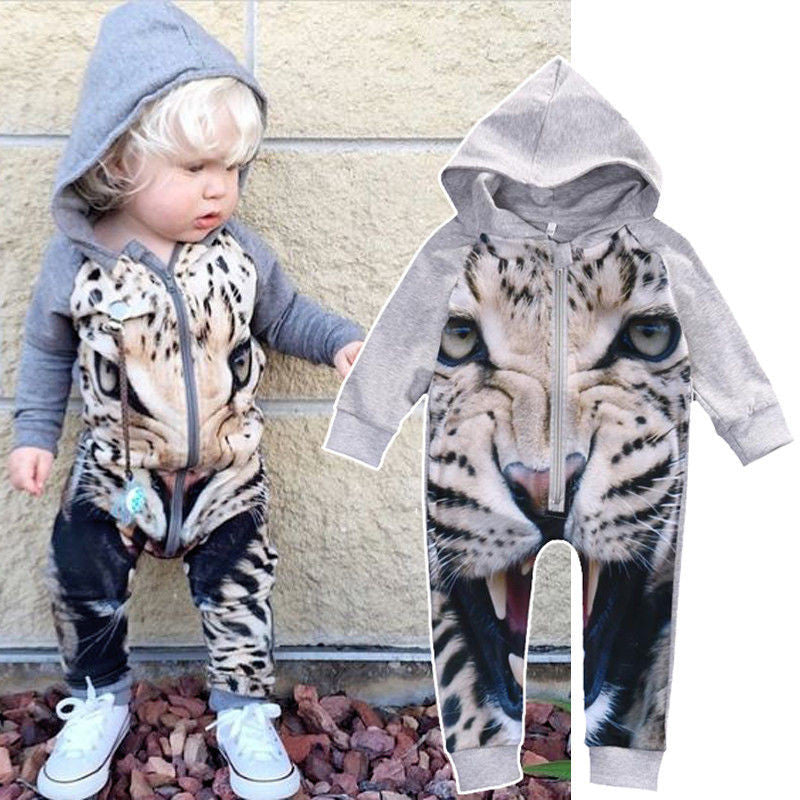 Tiger Romper With Zipper - MunchkinGear.com