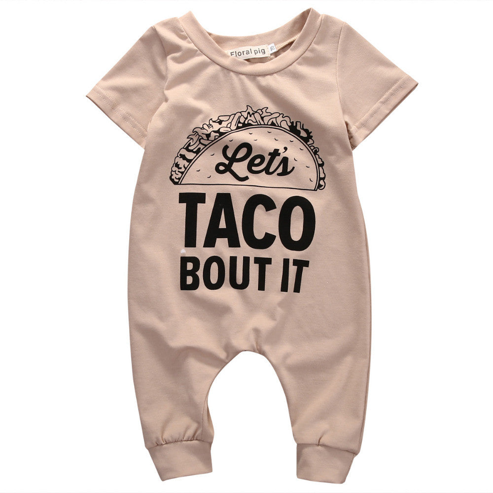 Let's Taco Bout It Romper - MunchkinGear.com