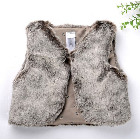 Faux Fur Warm Vest Various Colors - MunchkinGear.com